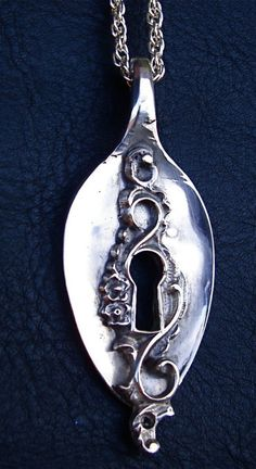 spoon keyhole necklace. Love jewelry made of or shaped like utensils!!! When I was in food service folks I waited on loved my fork, knife and spoon earings.