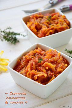 compotée courgette tomate - Plat d'été facile et délicieux