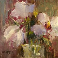 """Hibiscus"" - Original Fine Art for Sale - © Sue Harrell"