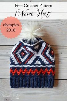 [FREE Pattern + Video Tutorial] This Olympics Team USA-Inspired Crochet Hat Is Fabulous!Yes, you can crochet this stylish hat today !Inspired by the red, white and blue of the 2018 Winter Olympics Team USA uniforms, this wonderful crochet hat is a great addition to your cold weather wardrobe.