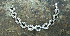 "Vintage Authentic Brighton Bracelet, Silver Link Style 8"" Bracelet, Mint Condition Brighton Jewelry, Scalloped Swirl Design, Estate Bracelet by ShelLeighDesigns on Etsy"