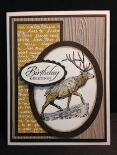 The Wilderness Awaits, Wetlands, Masculine Birthday Card, Stampin' Up!, Rubber Stamping, Handmade Cards