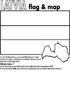 Latvia coloring page