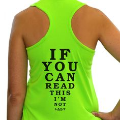 I WANT THIS FOR MY 1/2! Women's Race Ready Singlet If You Can Read This I'm Not Last | Running Race Singlets | Running Tank Tops | Singlets for Runners
