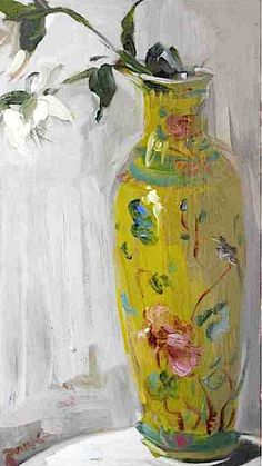 """""""Helebore in Chinese Vase"""" -- Serena Rowe -- Scottish -- Oil on board -- Private Collection. Illustrations, Illustration Art, Paintings I Love, Art Paintings, Flower Paintings, Deco Nature, Still Life Flowers, Still Life Art, Vases Decor"""