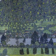 Gustav Klimt, Austrian, 1862–1918, Forest Slope in Unterach on the Attersee 1916, oil on canvas. Private collection.