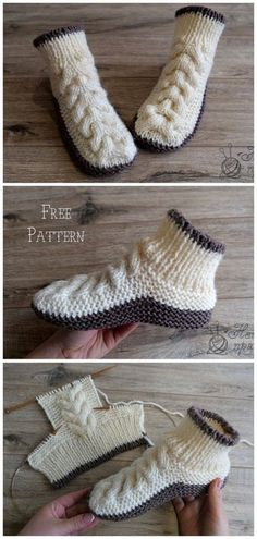 Super Soft Cozy Slippers Free Knitting Pattern - Russian and English - sport wei. Super Soft Cozy Slippers Free Knitting Pattern - Russian and English - sport weight yarn Knit Cable Baby Boot. Knitting Patterns Free, Knit Patterns, Free Knitting, Designer Knitting Patterns, Afghan Patterns, Knitting Machine, Vintage Knitting, Knitting Designs, Knitting Needles