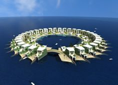 This is not the first time that floating islands have been proposed as a solution to the struggling World islands project, in which hundreds of little islands collectively shaped like the world are being developed in the Arabian/Persian Gulf (depending on who you talk to). Earlier a Dubai-based firm submitted the Ome project.