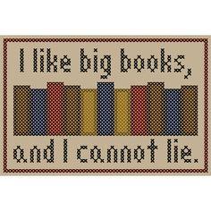 I LIKE BIG BOOKS Cross Stitch Chart by neverdyingpoet on Etsy, $3.50