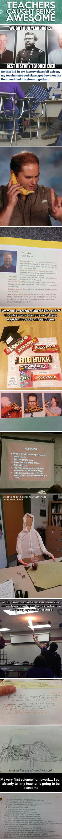 Teachers being awesome.
