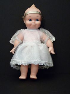 Original Kewpie Doll Rose O Neills Angel in White Dress Gold Halo 1999 Jesco  #DollswithClothingAccessories