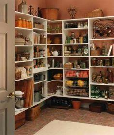 great pantry shelving