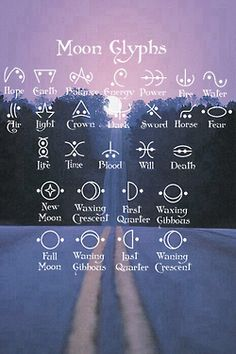 Moon glyphs. Any of these would look cool as tattoos.