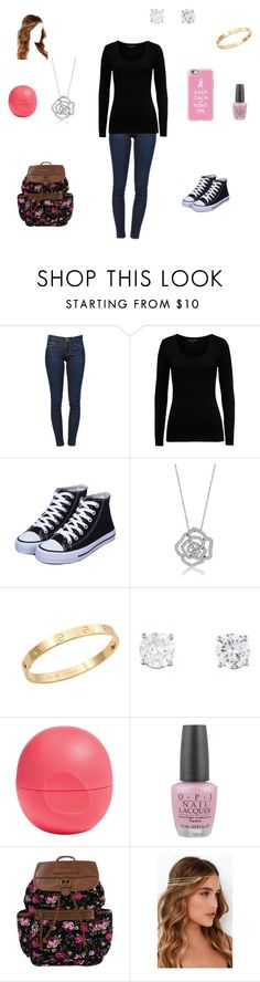 """pretty unique"" by dionnaevans ❤ liked on Polyvore featuring Frame Denim, French Connection, BERRICLE, Cachet, Eos, OPI, Lulu*s and Casetify"