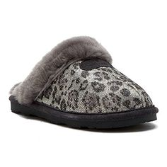 BEARPAW Womens Loki 9 BM EUR Silver >>> Be sure to check out this awesome product. (This is an affiliate link) Old Friend Slippers, Cute Slippers, Soft Suede, Womens Slippers, Footwear, Pairs, Stuff To Buy, Woman, Sandals