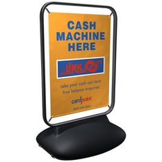 This Sentinel Forecourt Sign with a high impact banner display for outdoor promotional advertising is available here at - Pavement & Forecourt Signs. Cash Machine, Banner Stands, Outdoor Banners, Display, Signs, Large Format, Pavement, Floor Space, Billboard