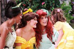 Princess Tiana, Belle, and Ariel by Jane's Jubilee, via Flickr