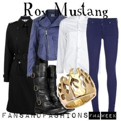 Roy Mustang from Fullmetal Alchemist inspired outfit.