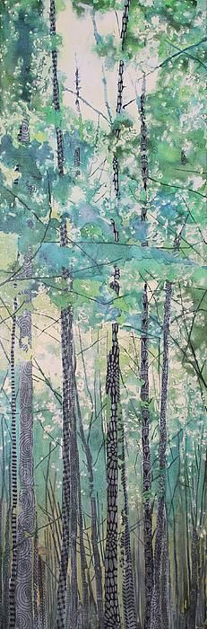 Walking in the Woods mixed media and zentangles by Sandrine Pelissier