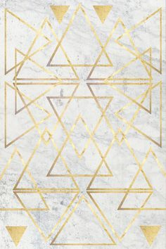 wire gold triangle art print by Simona Sacchi