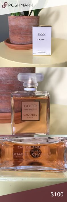 Chanel Mademoiselle Purchased 1 year ago and kept in a dark, cool place in the box. 90% of the bottle left. Notes: sparkling orange, rose, jasmine, and iris. Classic and elegant without being stuffy. CHANEL Makeup