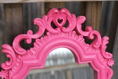 Vintage frame - can of spray paint - whole new personality. Vintage goes modern.