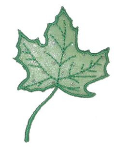 PATCHWORK PANDA LLC - Iron On Patch Applique - Maple Leaf Sheer Glitter Dot Green, $0.68 (http://www.patchworkpandatrims.com/iron-on-patch-applique-maple-leaf-sheer-glitter-dot-green/)