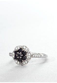 Belk & Co. Black & White Diamond Cluster Ring.....i heart this black and white ring!