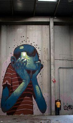 Arrêter de se prendre la tête ! / Street art.