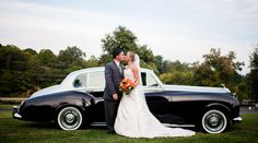 """This fun, Knoxville wedding is a memorable one for sure!  The traditional details tying in with a """"vintage"""" 1950's flair theme really help make this summer's day something special and unique.  With fun gloves, top hats, stunning florals, and a beautiful, vintage car to whisk around in, there is absolutely nothing boring about this celebration.  A huge thanks to KLP Photography for capturing such lovely photos!  We especially adore the black and white images that really make us feel like…"""