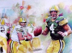 Brett Favre Green Bay Packers Art Framed by ShannonsCollection. Hubby has this hanging in his office