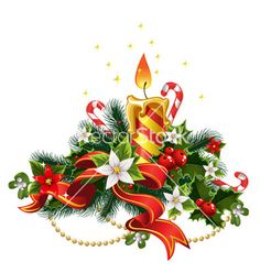 Buy Christmas Candle Light with Decorations by azuzl on GraphicRiver. Christmas candle light with decorations Christmas Sheets, Christmas Cards 2017, Christmas Clipart, Gold Christmas, Xmas Cards, Vintage Christmas, Christmas Time, Christmas Wreaths, Christmas Decorations