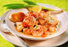 Shrimp and Scallops with Wine and Vegetables