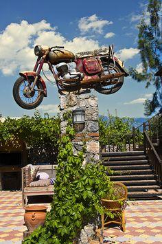 Flying Motorcycle.. by SelimGuney.deviantart.com  #Jawa #Vintage #Bike