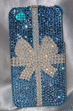 Bling Cell Phone Covers : Swarovski Crystal iphone Cell Phone Covers by The Dazzle Diva... of course!  The Little Blue Box!  LOVE!
