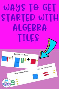 Algebra tiles are manipulatives that offer students a way to connect with abstract concepts. Manipulatives are helpful in combining like terms especially. Students see that different terms are not the same shape or size. Get started with some printable tiles or online resources. Read more at the blog post.