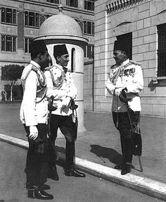 Officers of the Royal Body Guard, Abdeen Palace,Cairo Egypt 1940.