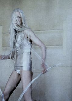 """Kristen McMenamy in """"The Origin of Monsters"""", photographed by Tim Walker for Love Magazine Spring/Summer 2012."""