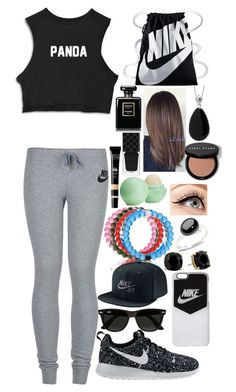 """NIKE SB"" by awesomel4125 on Polyvore featuring NIKE, Ray-Ban, Everest, Kate Spade, Pomellato, Luminess Air, Eos, Chanel, Gucci and Bobbi Brown Cosmetics"