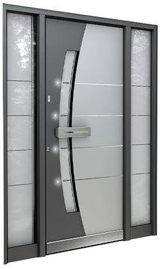 This excellent modern front doors is surely an inspiring and perfect idea Wooden Front Door Design, Front Gate Design, Main Gate Design, Door Gate Design, Room Door Design, Modern Front Door, Door Design Interior, Wooden Doors, Aluminium Door Design