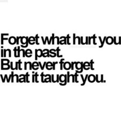 Life's lessons...