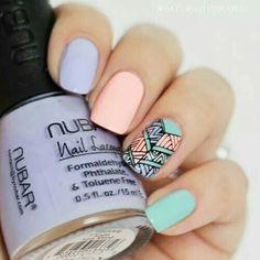 Nail #pastel tones