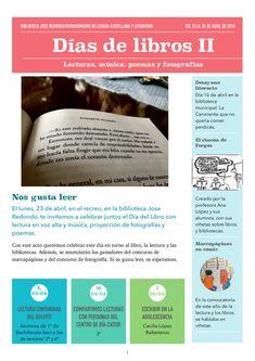 Programa de actividades Biblioteca José Redondo del IES Aricel de Albolote