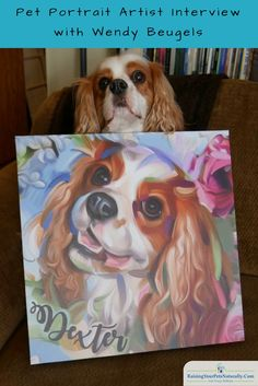 """Custom Pet Portrait Artist Interview with Wendy Art I've shared her work on my personal Facebook page over the years, and have seen friends get their own custom pet paintings from her. Then, about a month ago on another one of my shares, my mom and step-dad surprised me with """"we're going to get you a custom digital print from Wendy!"""" OMG—I was ecstatic! I literally was jumping up and down like a little schoolgirl. See why I'm so in love with her work. :)"""