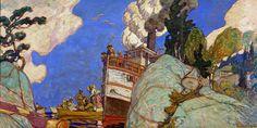 The Supply Boat, 1916 by J. E. H. MacDonald. Art Nouveau (Modern). genre painting