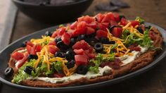 """How to make 7 layer bean dip with our """"healthier substitution"""" options for best results. None are more ideal for Super Bowl Sunday then our 7 layer dip. Tortilla Chips, Betty Crocker, Appetizer Dips, Appetizer Recipes, Yummy Appetizers, Party Recipes, Salad Recipes, Holiday Appetizers, Snacks Recipes"""