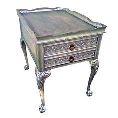 George II Style Silver Side Table - $750 Est. Retail - $428 on Chairish.com