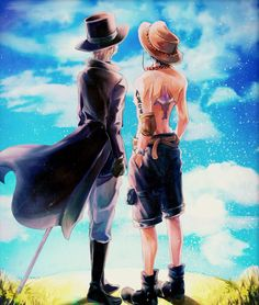Ace & Sabo - this artwork is beautiful