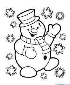 print coloring image | Crafts | Pinterest | Snowman, Free printable ...