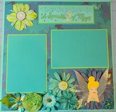Disney's Tinkerbell A Sprinkle of Magic 12x12 by 2ScrappyGals Disney Scrapbook Layout